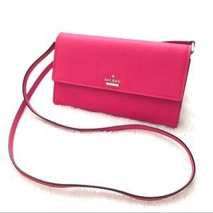 KATE SPADE ♠️  Pink Crossbody Wallet NWOT
